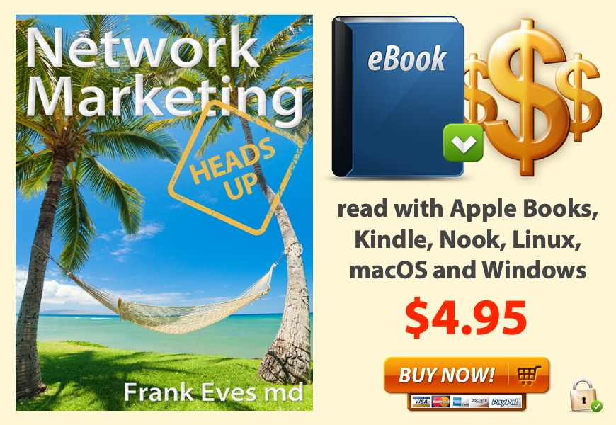 Network Marketing Heads Up eBook cover and buy now button